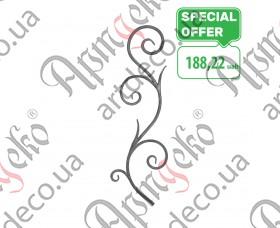 Кованая розетка 830х260х14 кора - изображение