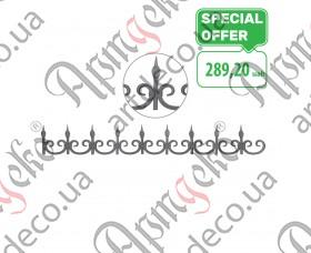 Кованый фриз декоративный 170х1265х12 невальц. - изображение