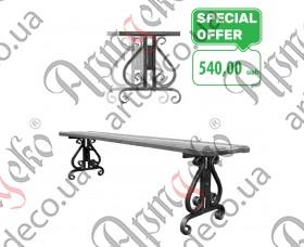Кованые ножки лавки, лавочки, скамейки 420х370х20 (2 шт./комплект) - изображение