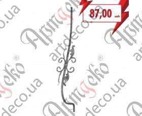 Кованая стойка гнутая (балясина) 950х160х190х12 вальц. - изображение