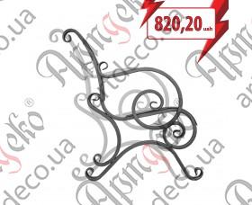 Кованая боковушка лавочки, скамейки 890х800х20 (комплект - левая, правая) - изображение