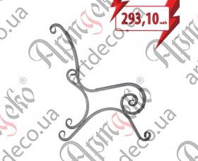Кованая боковушка лавочки, скамейки 890x800x20 - изображение