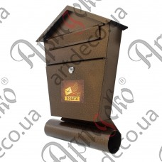 Почтовый ящик с трубой 450х340х90 - изображение