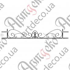 Holder for a balcony box 195х1400х12/12х6 - picture