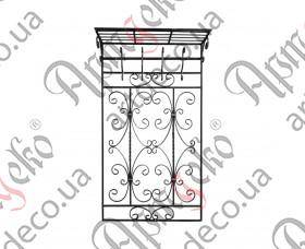 Вешалка настенная на 4 крючка 1450х815  - изображение
