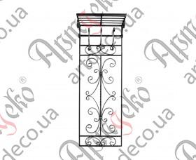 Вешалка настенная на 3 крючка 1450х515  - изображение
