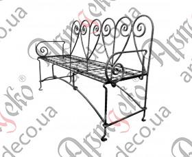 Диван кованый, уличная кованая мебель для сада и дачи 1550х550х1000 - изображение