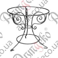 Стол круглый кованый D-860х810 - изображение