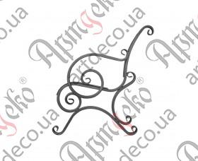Боковушка лавочки 890х800х20 (комплект - левая, правая) - изображение