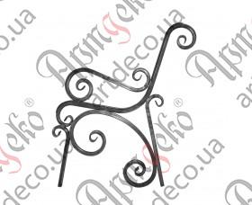 Боковушка лавочки 875х780х20 (комплект - левая, правая) - изображение