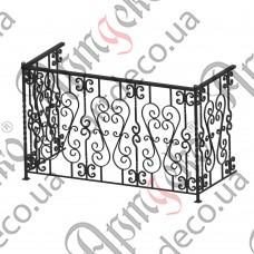 Балконное ограждение 1700х1050х750 - изображение