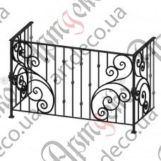 Балконное ограждение 1725х1075х760 - изображение