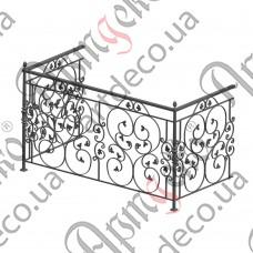 Балконное ограждение 2000х1110х900 - изображение