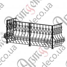 Балконное ограждение 2425х1000х700 - изображение
