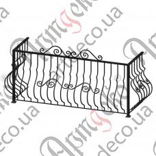 Балконное ограждение 2300х1030х770 - изображение