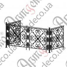 Балконное ограждение 2135х950х1000 - изображение