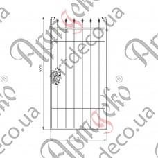 Калитка кованая 1000х2000 - изображение