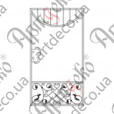 Кованая калитка 930х1700 - изображение