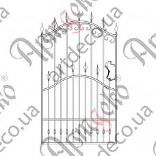 Кованая калитка 1250х1800 - изображение