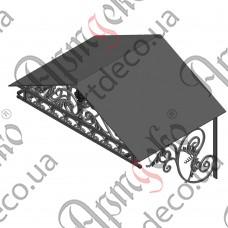 Кованый навес 1160х1058(700)х945 - изображение