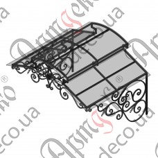 Кованый навес 1500х1115(615)х1260 - изображение
