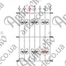 Forged grate 850x1500 - picture
