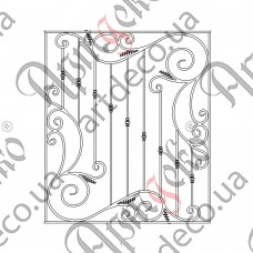 Forged grate 1400x1600 - picture