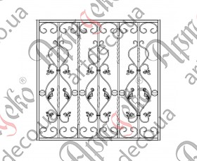 Кованая решетка на окна 1010х990 - изображение