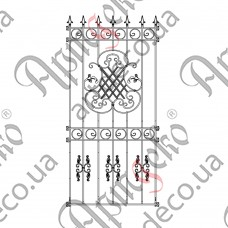 Forged grate 980х2140 - picture