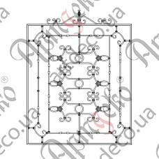 Forged grate 1560х1790 - picture