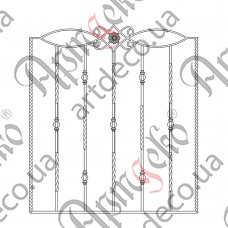 Forged grate 960х1075 - picture