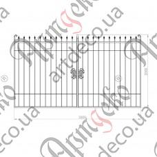 Кованые ворота 3500х2000. Готовая конструкция - изображение
