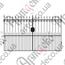 Кованые ворота 3400х2000 - изображение