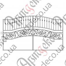 Кованые ворота 3400х1950 - изображение