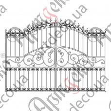 Кованые ворота 2870х2000 - изображение