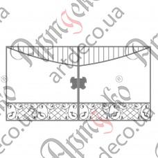Кованые ворота 3300х1700 - изображение