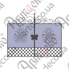 Кованые ворота 2700х2000(1650) - изображение