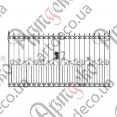 Кованые ворота 3416х1800 - изображение