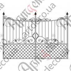 Кованые ворота 3000х2000 - изображение