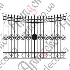 Кованые ворота 2980х2000 - изображение