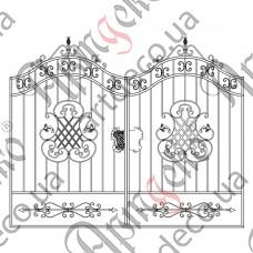 Кованые ворота 2700х1730 - изображение