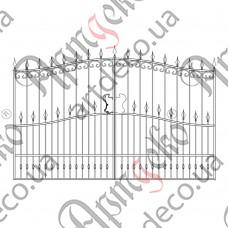 Кованые ворота 3308х1800 - изображение