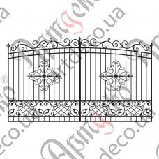 Кованые ворота 3600х2135 - изображение