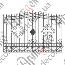 Кованые ворота 2960х2180 - изображение