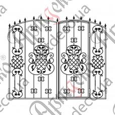 Кованые ворота с калиткой 2600х2100 - изображение