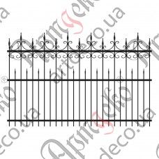 Forged fence 2500х1600 - picture