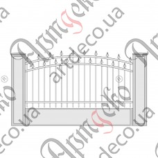 Forged fence 2100х1100 - picture