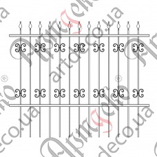 Forged fence 2000х1620 - picture