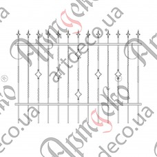 Forged fence 2000х1500 - picture