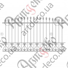 Forged fence 2650х1500 - picture
